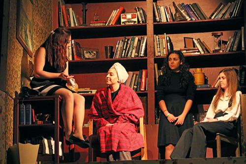 Jenna Pericelli, AnnaMarie Challice, Briana Cielo, and Francesca Carr. August Osage County; property of Mrs. Shue